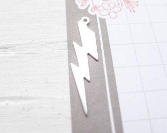 Sterling Silver Lightning Bolt Charms Thunderbolt Pendants (CHSL379)