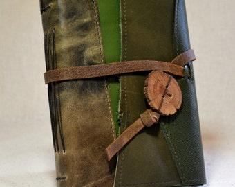 Medium Forest-Inspired Leather Journal with Recycled Paper