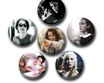 Winona Ryder 1inch Pinback Button or Magnet set