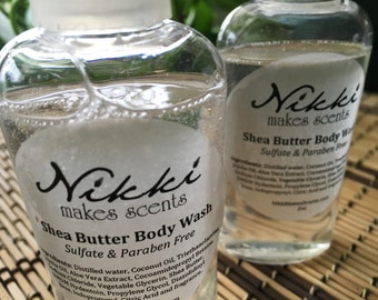 Shea Butter Body Wash Sample - FLORAL  fragrances (N to Z)