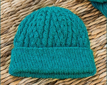 Delamere Hat - Knitting Pattern - Warm hat in 6 different sizes - Instant download