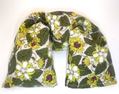 Organic Cotton & Hemp Flaxseed Neck Wrap with washable cover - Organic  Flax seed pillow - Microwavable Heat Pack - Christmas gift green red