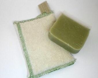 Zero Waste Soap Saver bags made with Hemp and Organic Cotton by Aquarian Bath - Go green - ecofriendly towel - washcloth or dishcloth