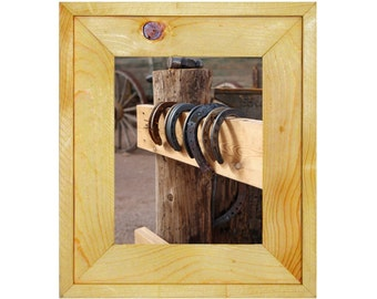 Rustic White Pine Wood 8X10 Picture Frame, Teton