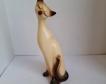 mid century siamese cat figurine