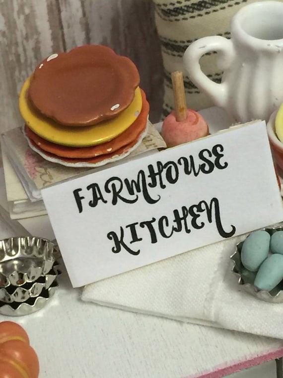 Miniature Dollhouse Word Art Farmhouse Kitchen - 1:12 scale