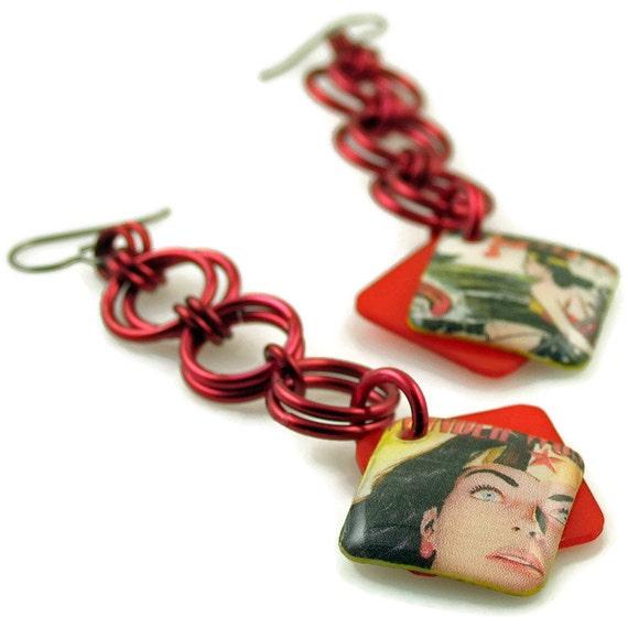 Embrace Your Inner Superhero Dangle Earrings // Ready to Ship