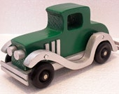 1929 Model Roosevelt Coupe wooden car, Antique Wooden Car, Child's handmade in the USA by a Veteran Antique Car,