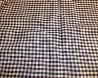 Black Gingham Fabric 2 Yards