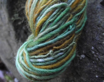 Handspun yarn, handpainted thick and thin yarn, soft wool, worsted yarn-EUPHROSYNE