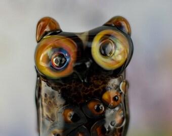 Freya..... lampwork owl bead........ sra
