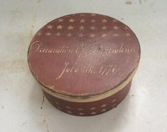 Red Paper Mache USA Box