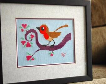 The Robin Cross Stitch Pattern - Professional Pattern Designer and Artist Collaboration