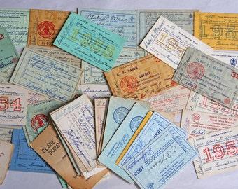 Vintage MEMBERSHIP CARDS (60) Masons- Lodge- Indian Consistory- Durant Oklahoma- 1940's- 1950's