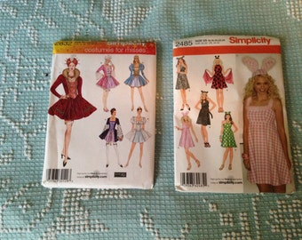 Sexy Misses COSTUME PATTERNS  women's Wizard of Oz Dorothy Edwardian and Victorian Bunny Witch Steampunk & more Choose 1