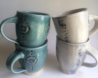 Mugs, Set of Two, Handmade Coffee Mugs