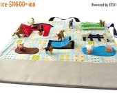 3 DAY SALE Gift for Kids – Farm Toy – Toddler Gift – Busy Barnyard – Ring Bearer Gifts – Farm Play Mat – Farm Playscape - Learning Toys -Ros