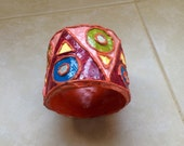 Vintage Paper Mâché Bangle India Mirrors 1960's Vibes Funky