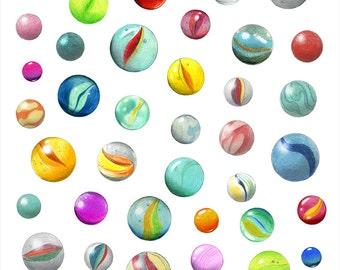 Marbles - Print