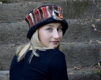 Felt Hat Felted wool hats Womens winter hats Felt hat for women unique felt hat Hat Felt hats Women's wool hat Unique Gift Felted Hat