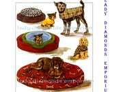 McCalls 3071 Dog Coats, Dog Beds, Dog Bed Cover each in 3 Sizes S M L Pet Accessories Sewing Pattern