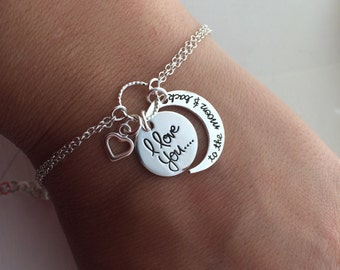 Love You To The Moon And Back Bracelet in Sterling Silver