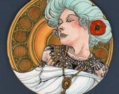 Art Nouveau Angel #3--2015 Large Limited Edition Ornament (CLEARANCE - was 20.00)