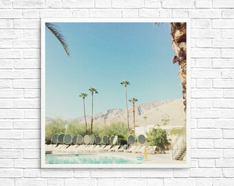 California Photography, Palm Springs Photo, Ace Hotel, Pool Photo, Palm Trees, Desert Photo, Home Decor, California Decor - By The Pool