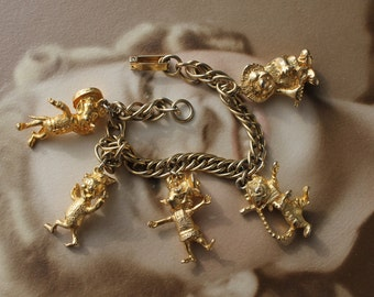 1960's Kellogg's Cereal Charm Bracelet, Kellogg's Advertising Characters, Tony the Tiger, Snap Crackle Pop