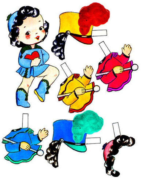 school band girl printable paper doll paper doll printing musician clothes kids gift clipart paperdolls images childrens craft printables