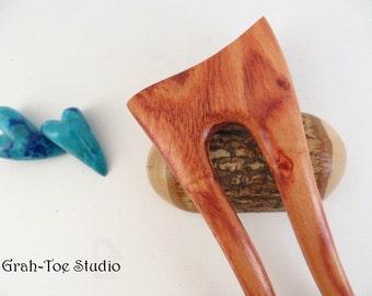 Tulip Wood Hair Fork,Wooden Hair Fork, Hairfork, Mermaids Tail Grahtoe Handmade,Hair Stick,Scooped Top Hairforks,Hairsticks, Gift for her