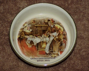 Vintage--Sandland Ware--Trinket Dish--Betsy Prig--Hanley, England