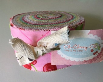 Sale. RARE Oh Cherry Oh jelly roll  by Me and My Sister for Moda