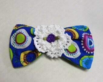 Fabric Hair Bow Flowers