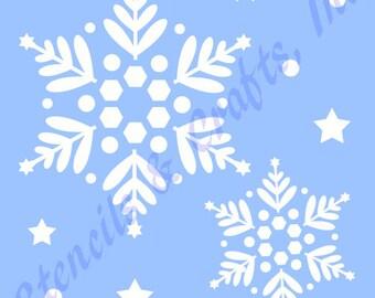 SNOWFLAKES CHRISTMAS STENCIL stencils template templates craft paint pochoir pattern scrapbook paint background #2 new