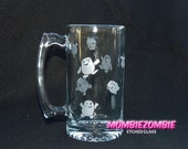 Doctor Who Adipose Stein / Beer Mug Etched glass