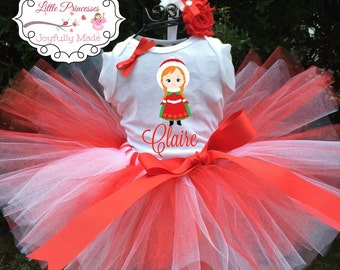 Personalized Anna Outfit - Holiday Tutu Set - Anna Shirt