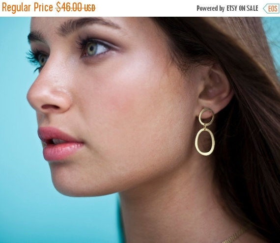 Sale 20% OFF Bubbles Post Earrings, oval posts