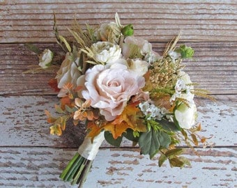 Blush Pink Fall Boho Bridal Bouquet, Example Only!! DO NOT PURCHASE