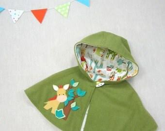 Children Capelet - Giraffe. Girl, Cape, Poncho, Jacket, Baby, Children, Handmade, Gift