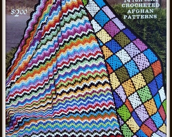 Crocheted Afghan Patterns - Vintage ©1976 - Publisher GYS - Winter Warmers Book 29