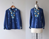 Trano embroidered tunic | vintage folk blouse | embroidered bohemian blouse