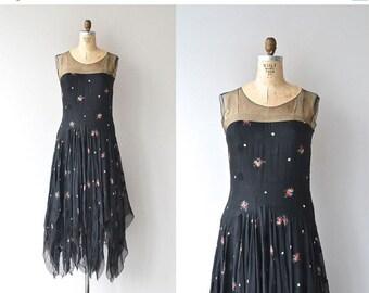 25% OFF SALE Miss Castle dress   vintage 1920s dress • silk floral 20s dress