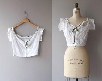 Edwardian Lace camisole   vintage 1910s camisole   antique edwardian cotton corset cover