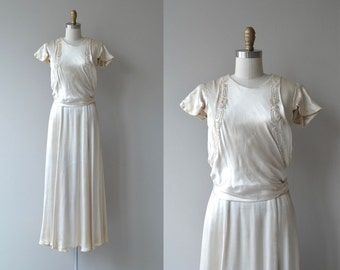 Best Wishes wedding dress | antique 1920s wedding dress | silk 20s wedding dress