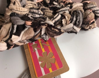 winter floral upcycled cowl recycled knits