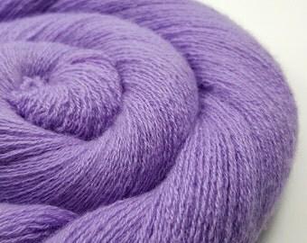 100% Cashmere Yarn - Heather Purple - Cashmere Yarn - Recycled Lace - 10816