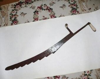 Primitive Hay Knife Blade Farm Cutting Tool Rustic Western Décor Cast Iron