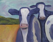 Small Matted Print, Pt. Reyes Cows II  SALE!