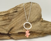 Pink Coral Sterling Silver Necklace A108